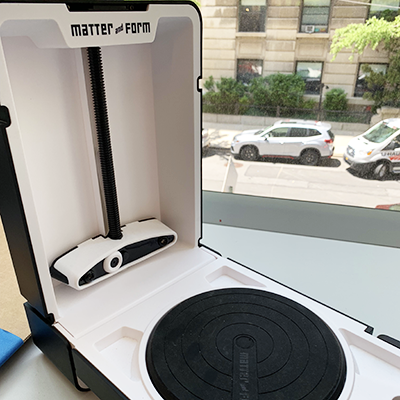 photo of 3D scanner on countertop