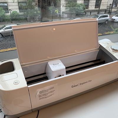 image of cricut cutter on countertop