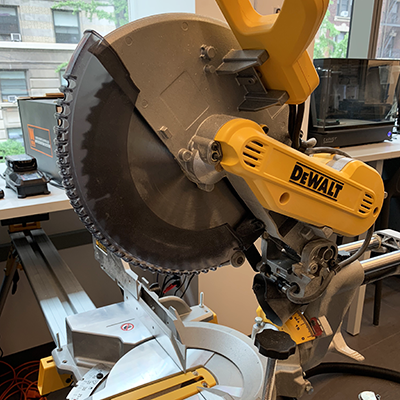 image of standing miter saw