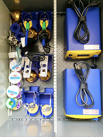 image of soldering equipment in drawer